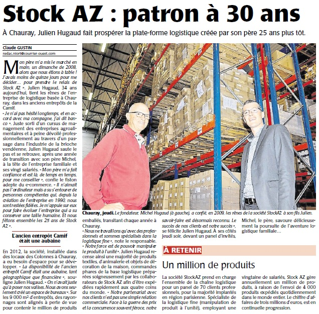 Article courrier de l'ouest